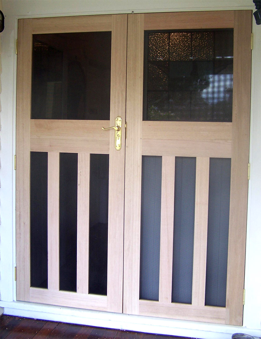 Security french flydoors designer screens for Security doors for french doors